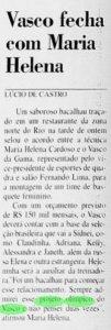 Vasco tinha um orçamento de 150 mil reais mensais no basquete feminino em 2000 (Foto: Jornal do Brasil)
