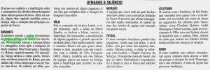 Reportagem falando sobre o atraso de salários e dívidas (Foto: Jornal do Brasil)